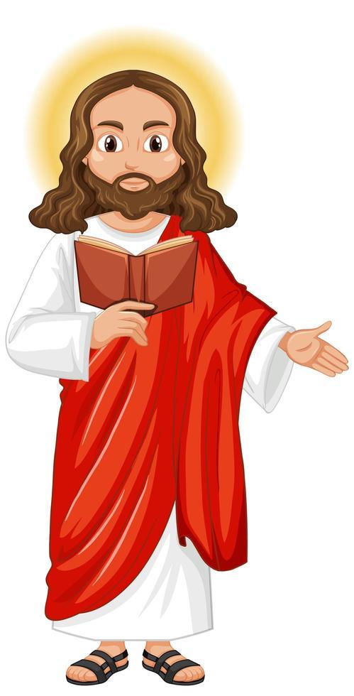 Gesù che predica in posizione eretta personaggio vettore