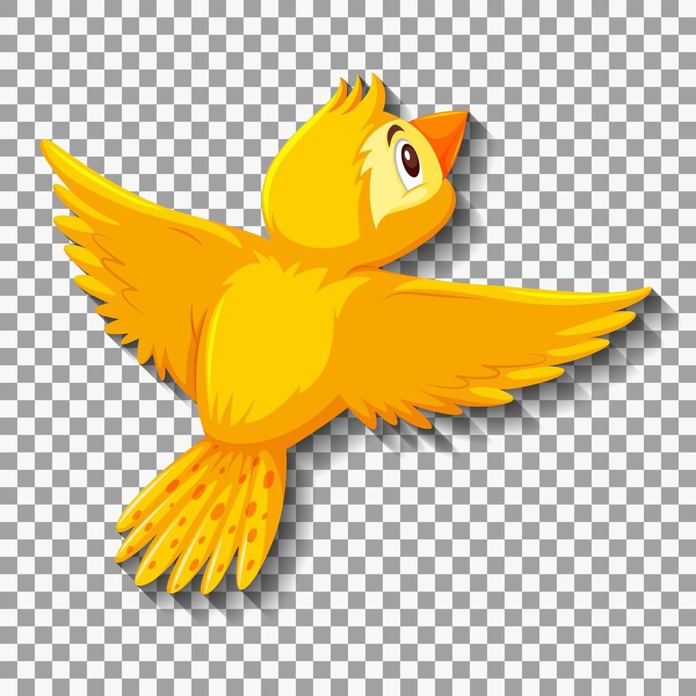 simpatico personaggio dei cartoni animati di uccello giallo vettore