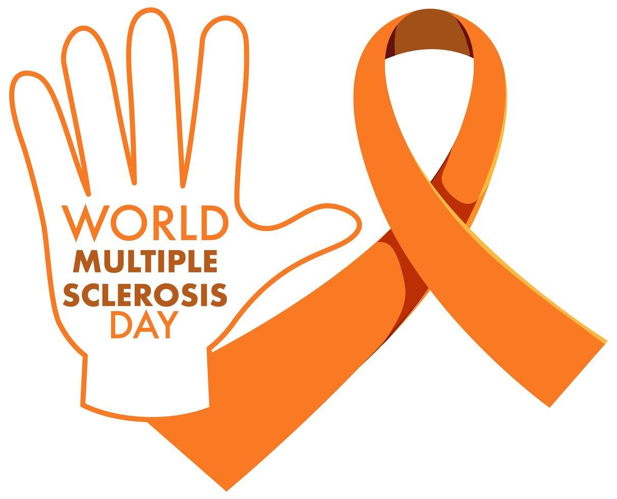 segno o oggetto di consapevolezza della leucemia nastro arancione consapevolezza della sclerosi multipla consapevolezza della malnutrizione vettore