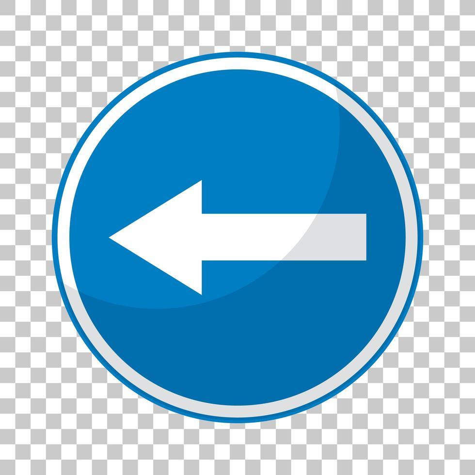 segnale stradale blu su sfondo trasparente vettore