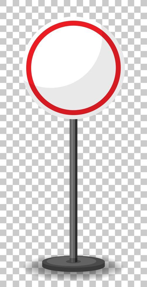 striscione traffico rosso vuoto su sfondo trasparente vettore