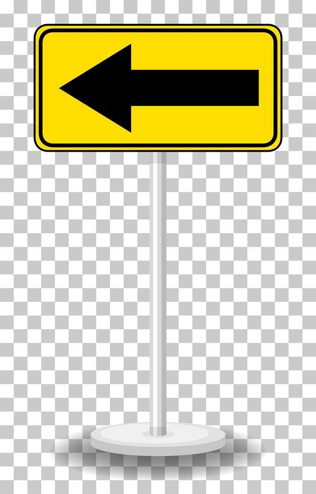 segnale di avvertimento traffico giallo su sfondo trasparente vettore