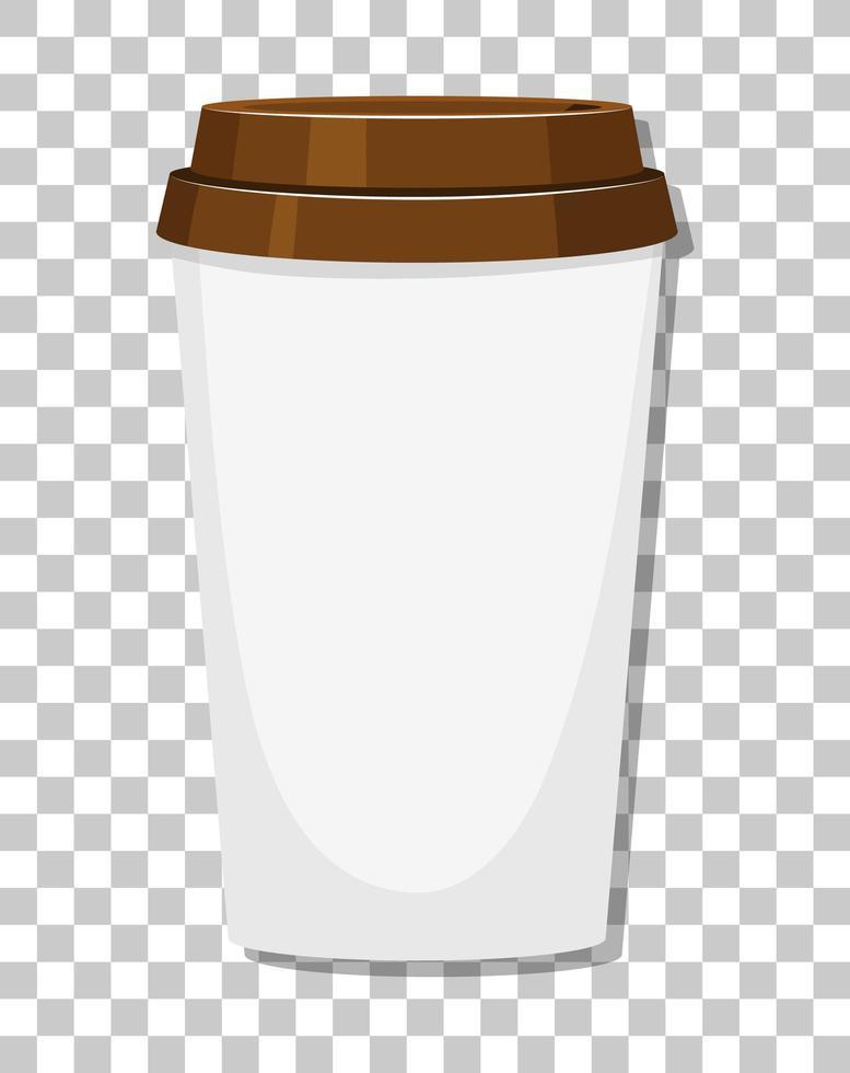 una tazza di caffè di carta isolata su sfondo trasparente vettore