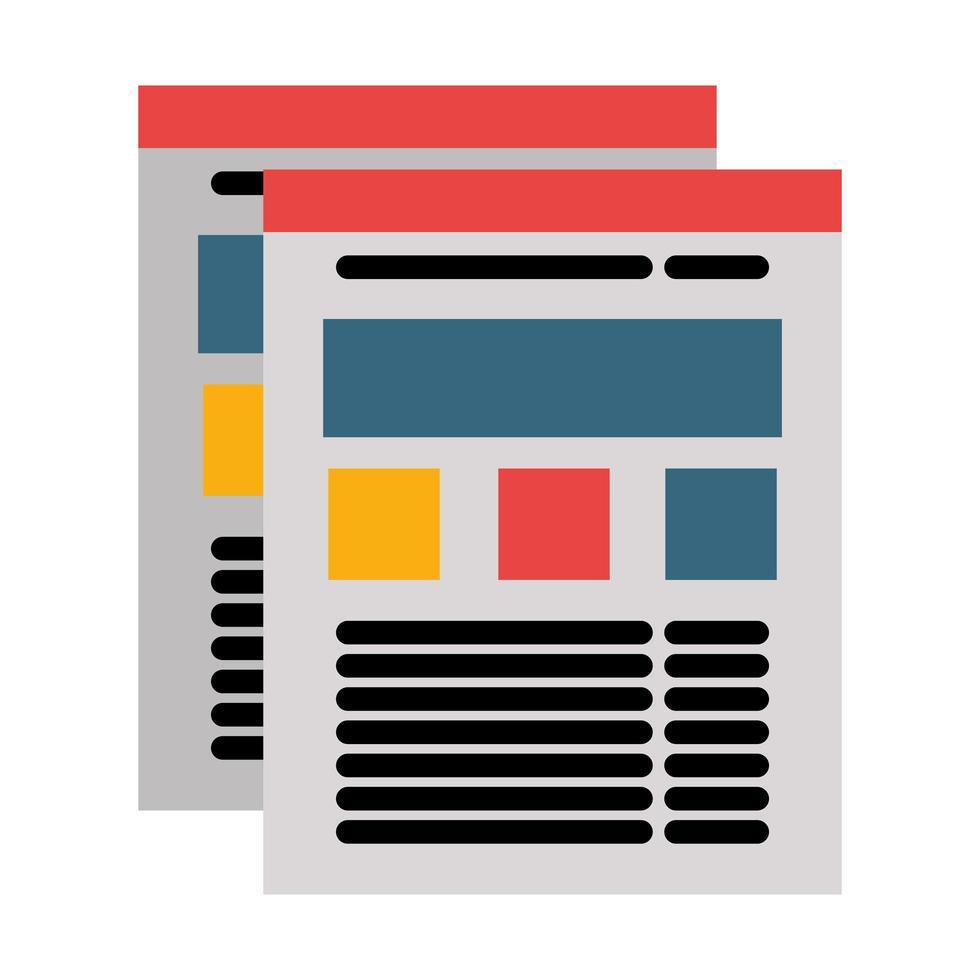 browser del sito Web con informazioni nell'icona della pagina vettore