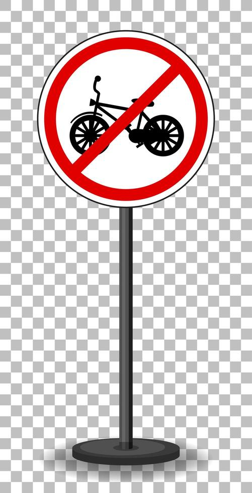 rosso nessun segno di traffico di biciclette vettore