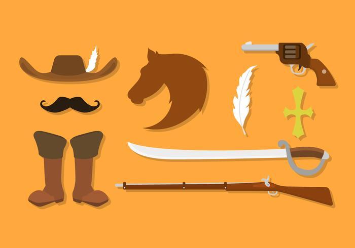 Vettori militari dell'arma antica piana