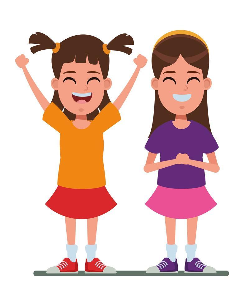 personaggi dei cartoni animati per bambini vettore