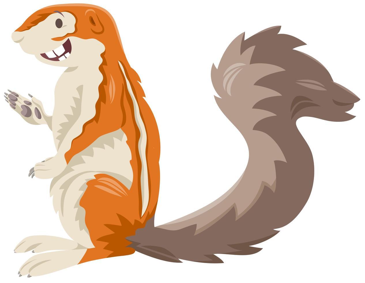 xerus scoiattolo cartoon carattere animale selvatico vettore