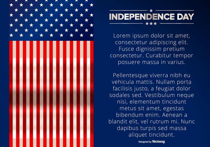 Illustrazione del giorno dell'indipendenza vettore