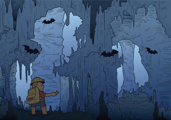 Illustrazione vettoriale di caverna