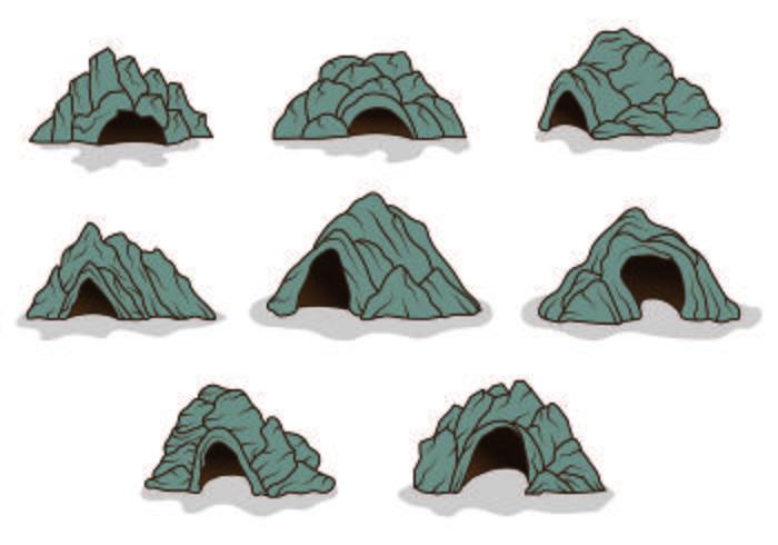 Set di icone Cavern vettore