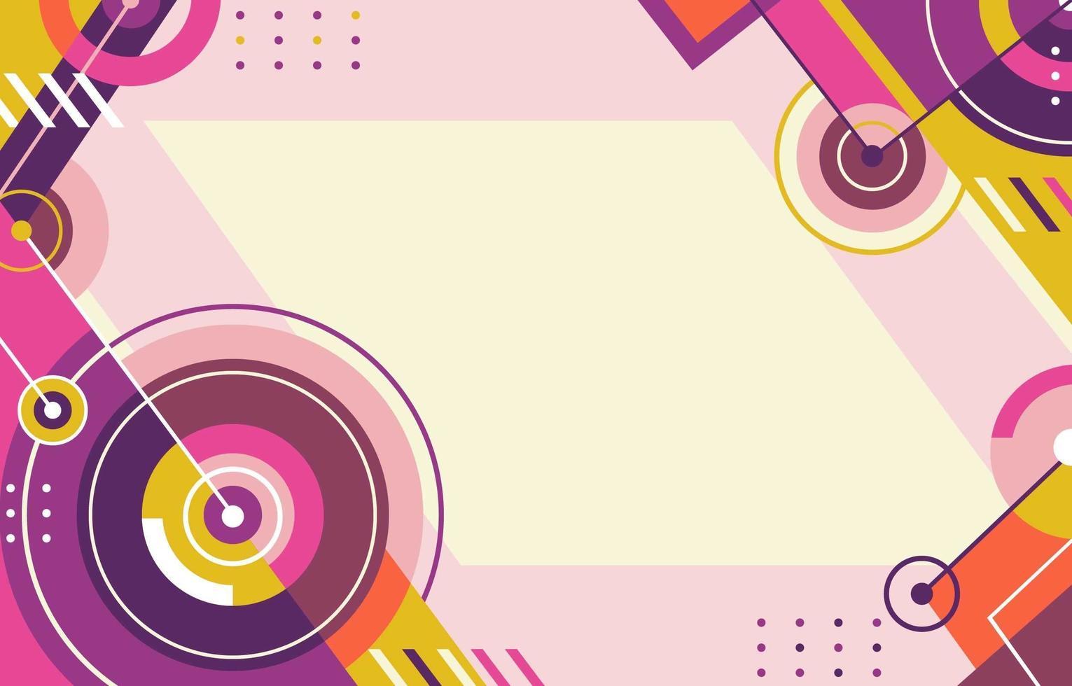 sfondo sonar astratto in giallo e viola vettore