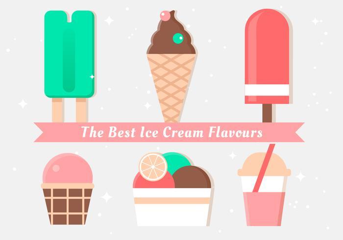 Illustrazioni di gelato vettoriali gratis