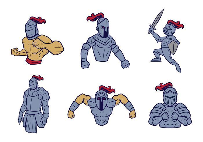 Vettore della mascotte dei cavalieri