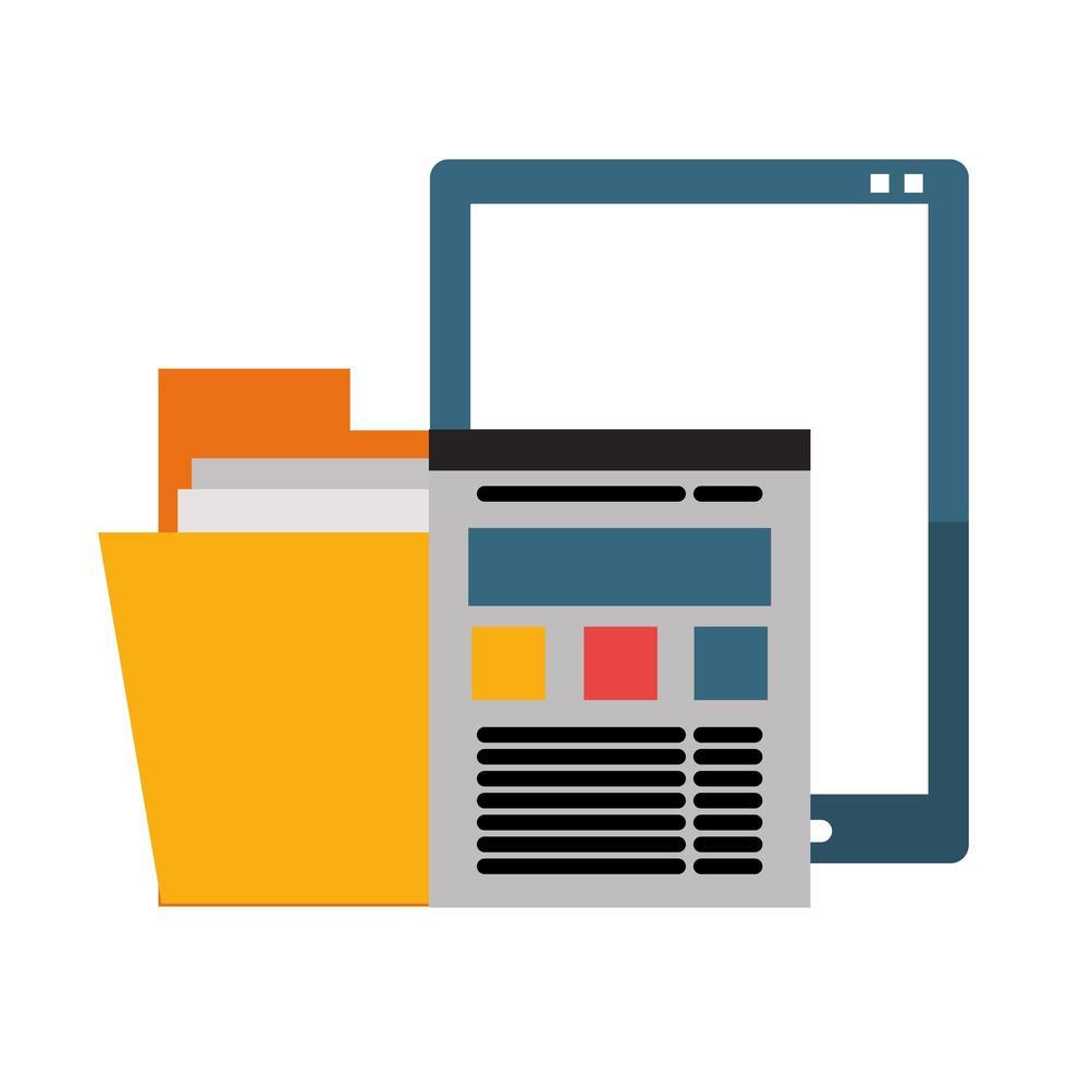 ufficio e concetto di tecnologia aziendale vettore
