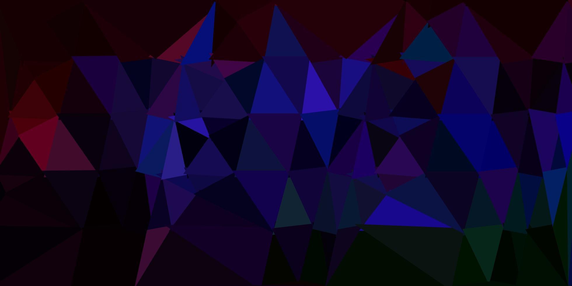 sfondo scuro multicolore triangolo astratto. vettore