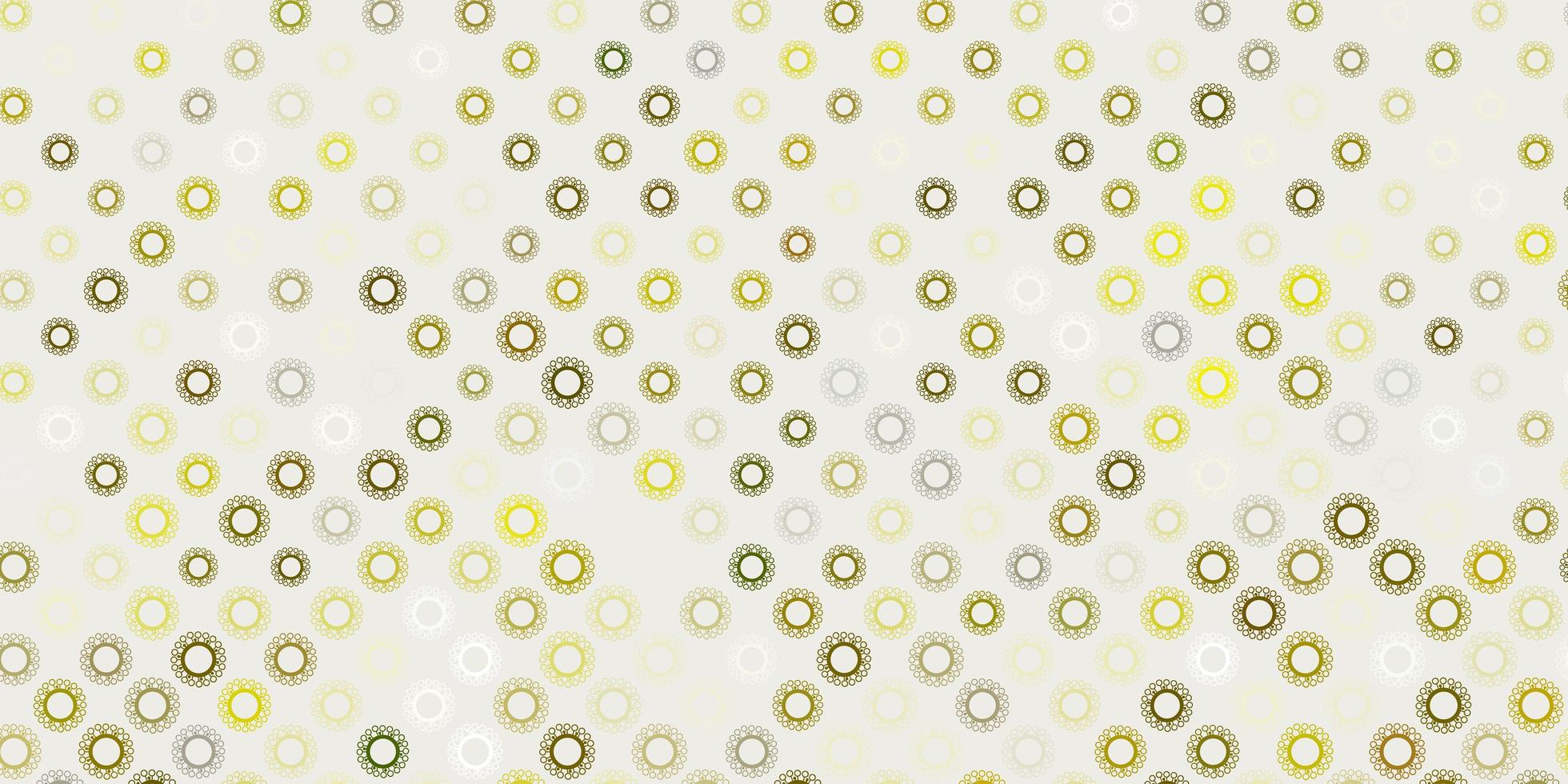 verde scuro, motivo giallo con elementi di coronavirus. vettore