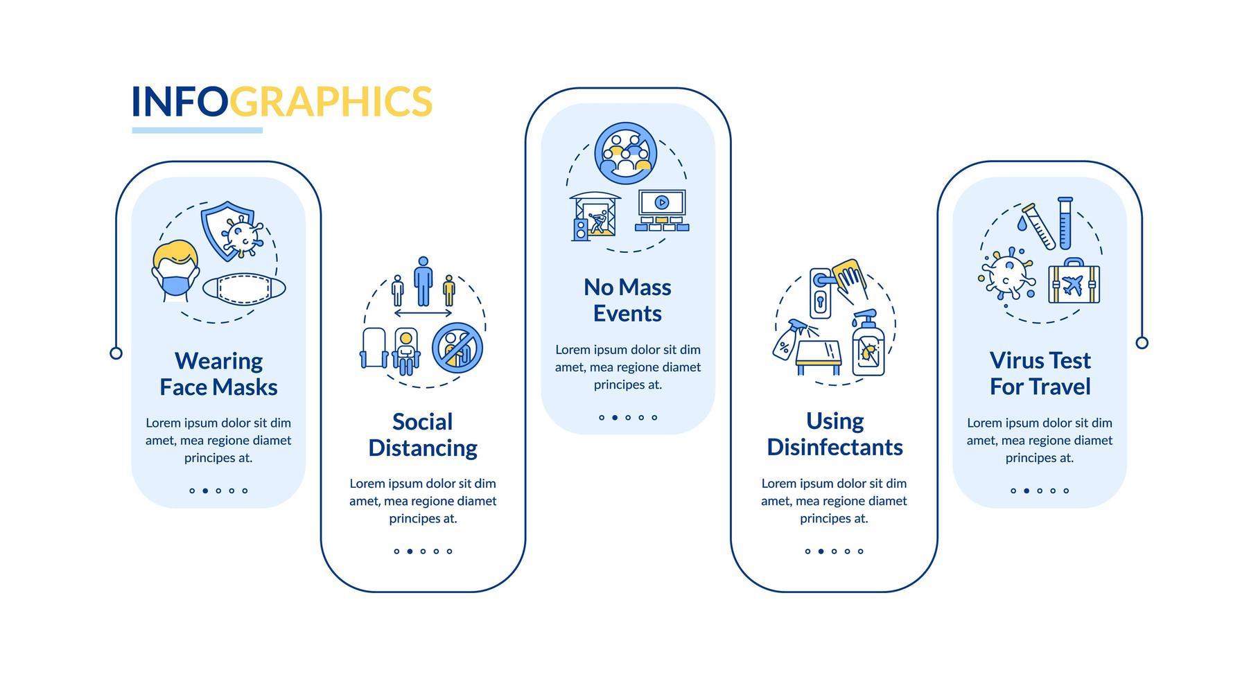nuovo modello di infografica ordini pubblici vettore