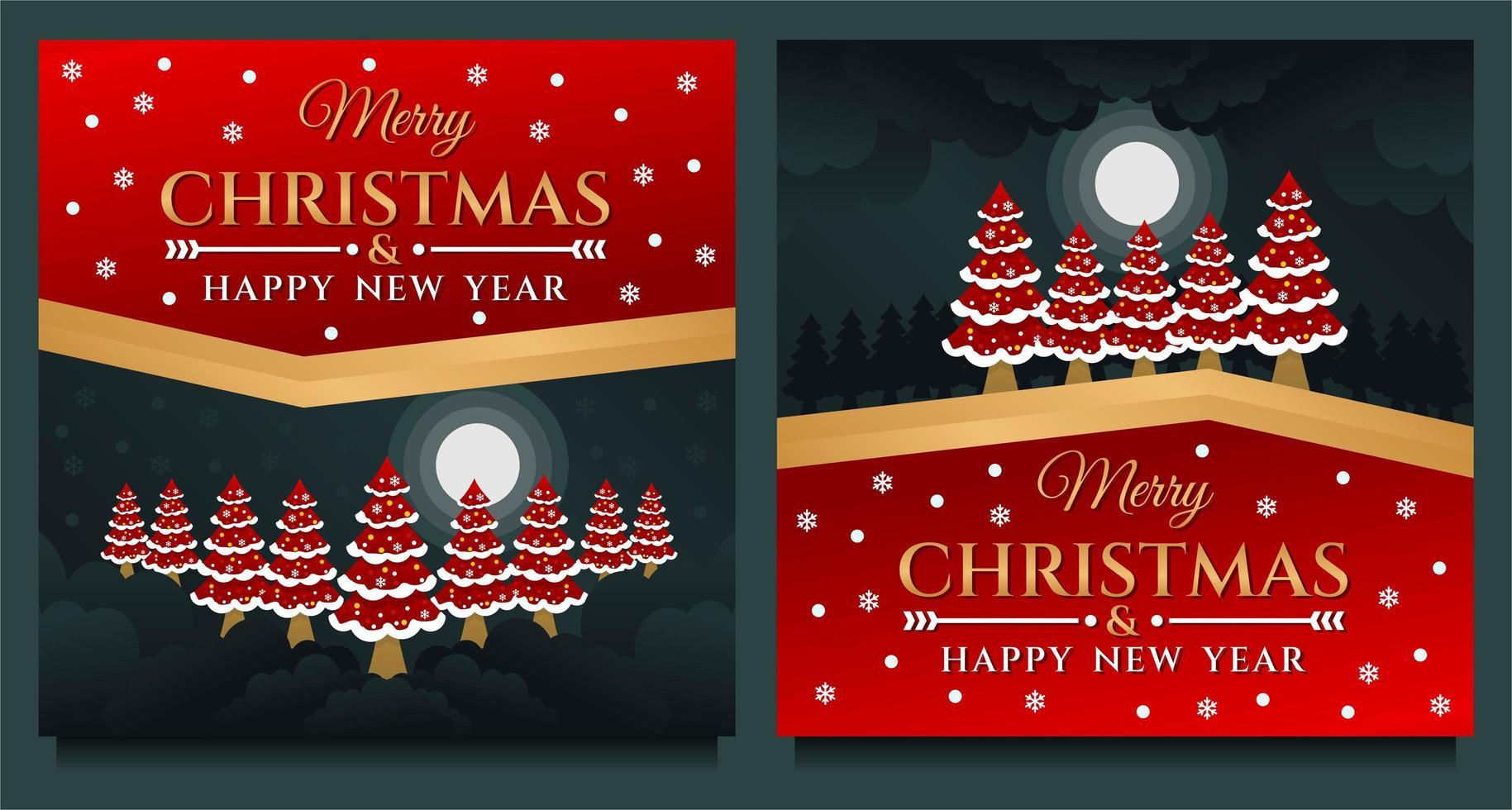 buon natale e felice anno nuovo banner vettore