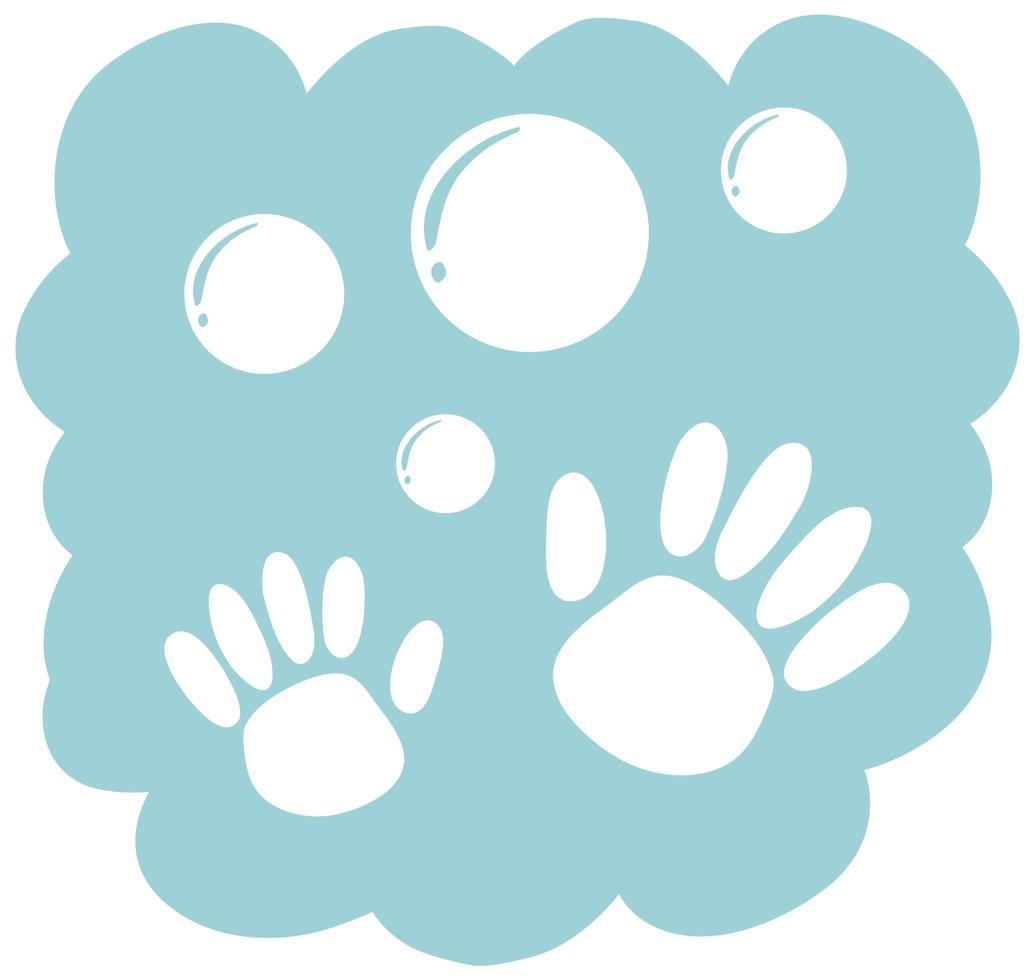 icona di pulizia delle mani su priorità bassa bianca vettore
