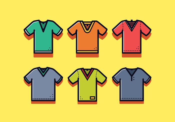 V Neck Shirt Vector gratuito