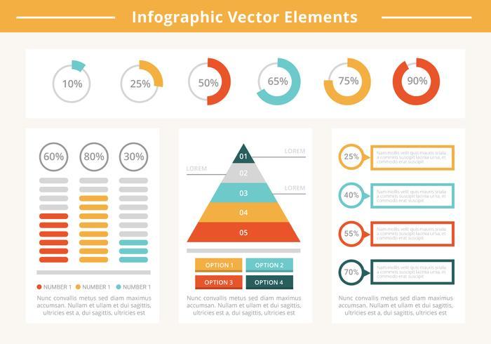 Elementi di business gratis infografica vettore