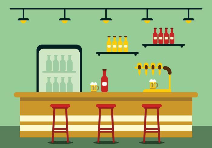 Illustrazione della barra con la pompa della birra vettore
