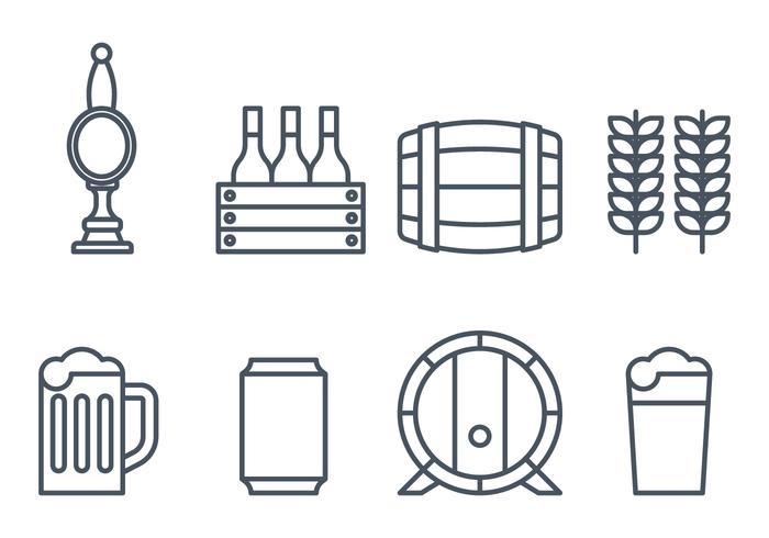 Icone della birra vettore