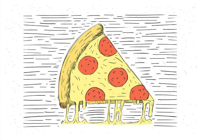 Pizza vettoriale disegnato a mano libera