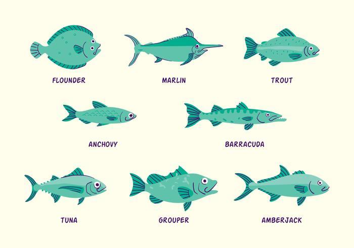 Icona di pesca in mare vettore