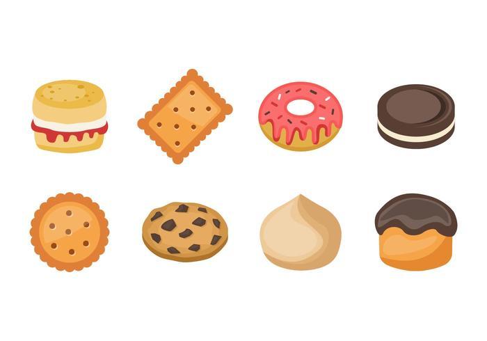 Vettore libero delle icone dei dolci e dei biscotti