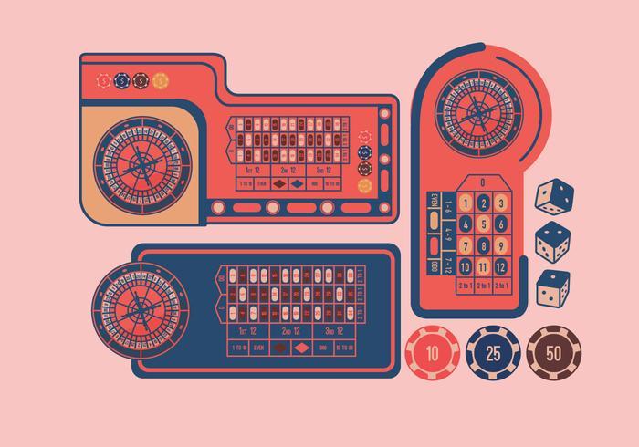 Vettore di disegno della tabella della roulette
