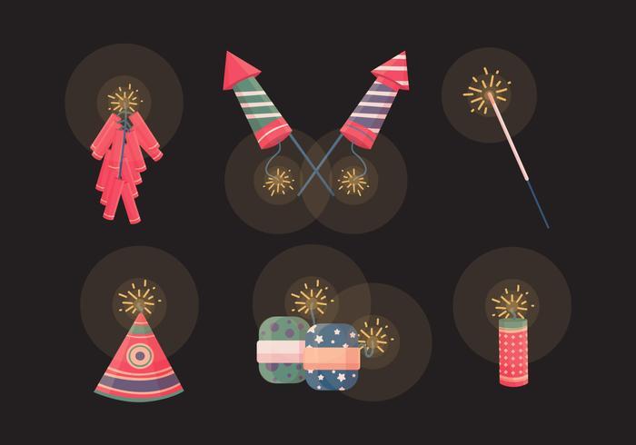 Raccolta di vettore dei cracker di Diwali