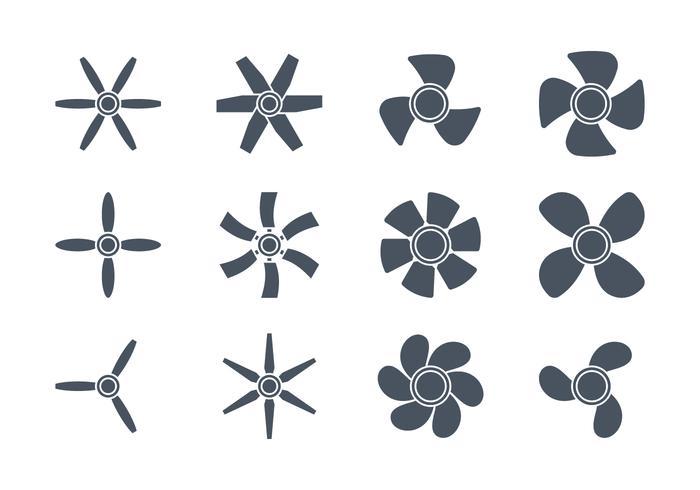 Icone dei fan vettore
