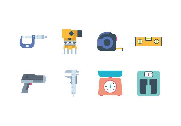 Icona strumenti di misurazione gratuita vettore