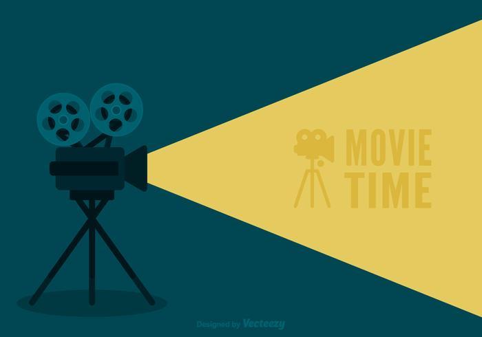 Retro fondo di vettore del cinema di film