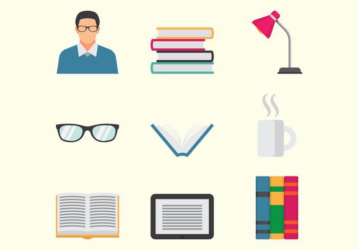 Icone Bookworm vettore