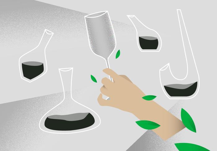 illustrazione vettoriale di vino decanter