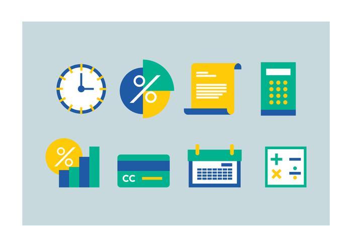 Icone di contabilità gratuita vettore