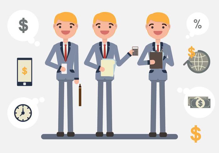 Il vettore dell'illustrazione del carattere di contabilità