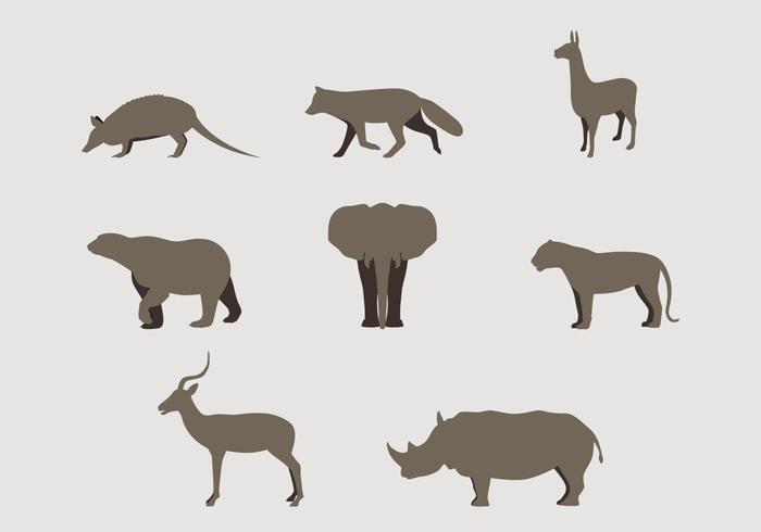 Loghi di animali selvaggi Silhouette vettore