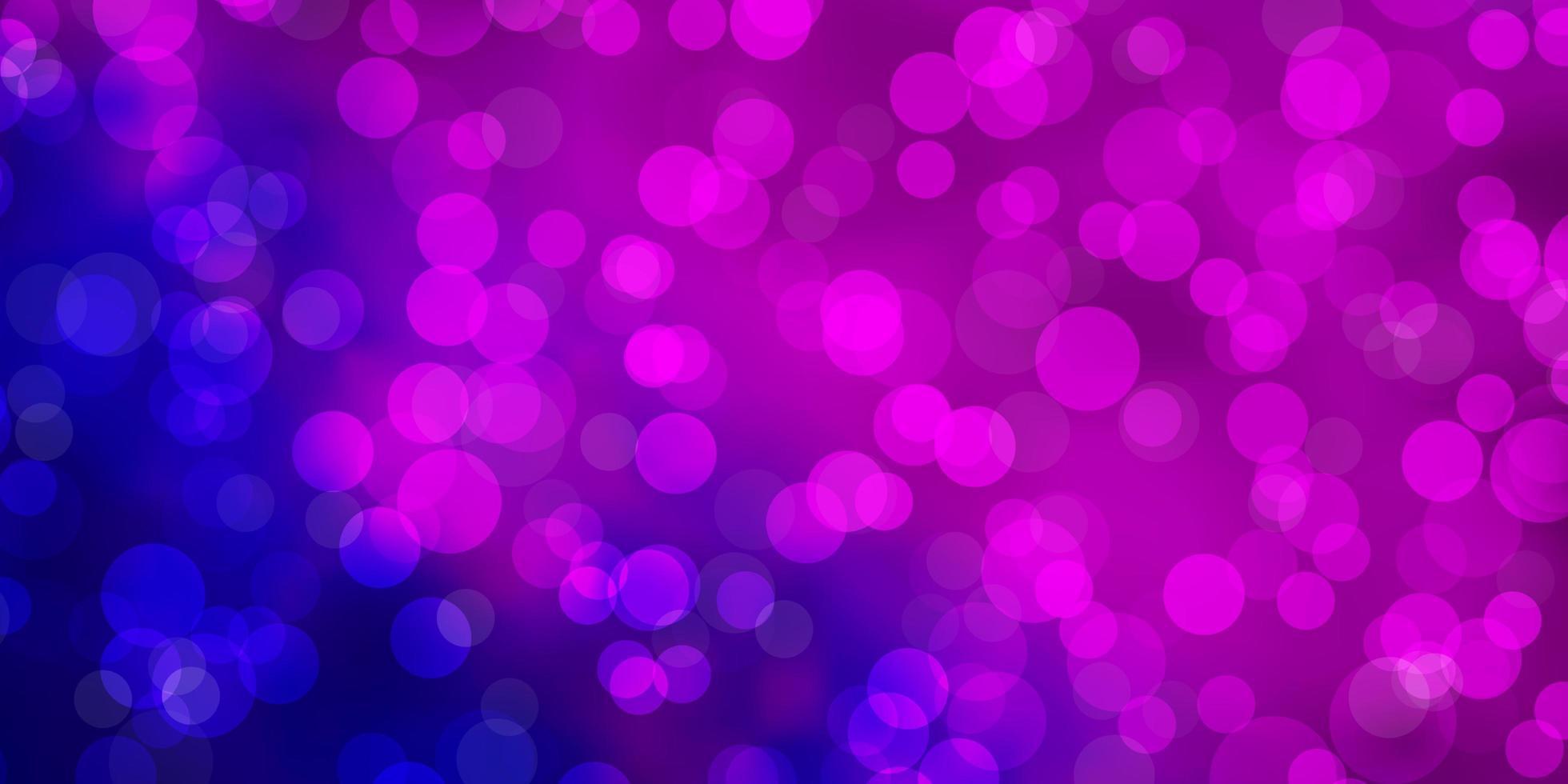 sfondo rosa, blu con bolle. vettore
