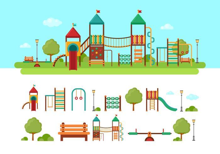 Parco giochi per bambini Jungle Gym vettore