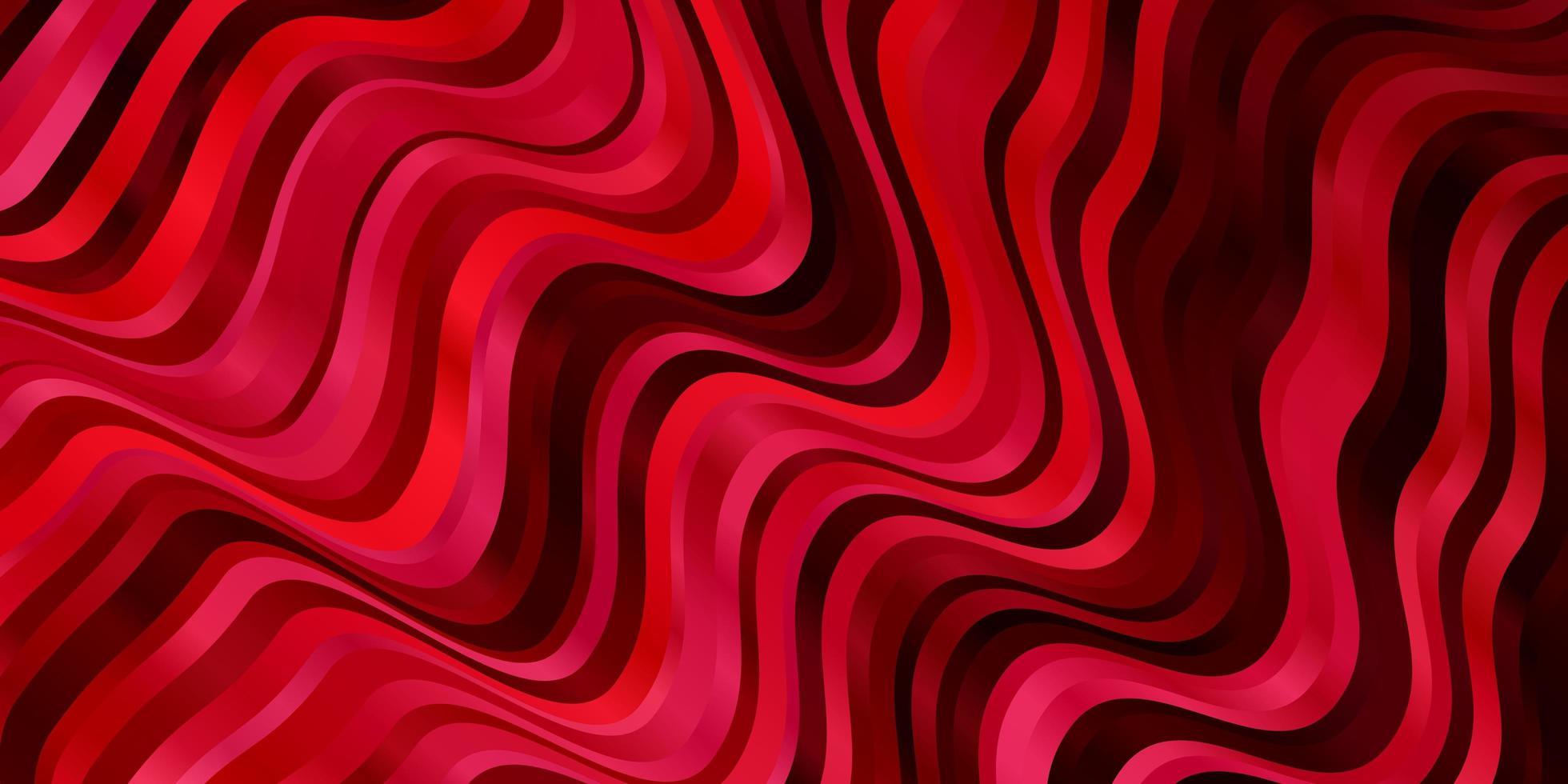 modello rosso con linee curve. vettore