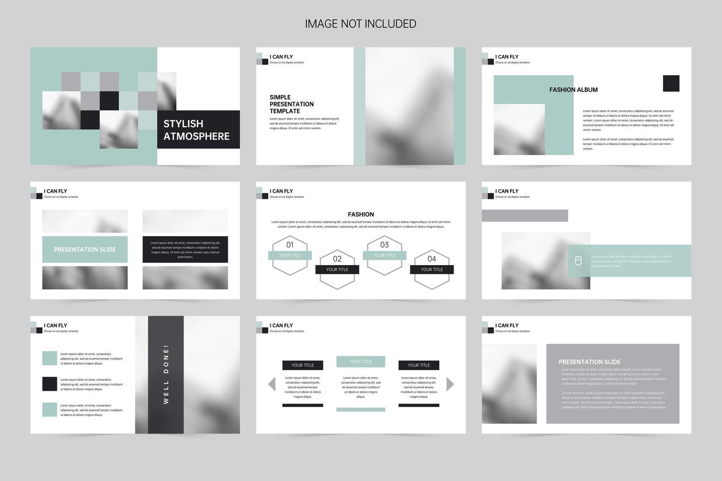 pianificazione di diapositive di presentazione pubblicitaria vettore