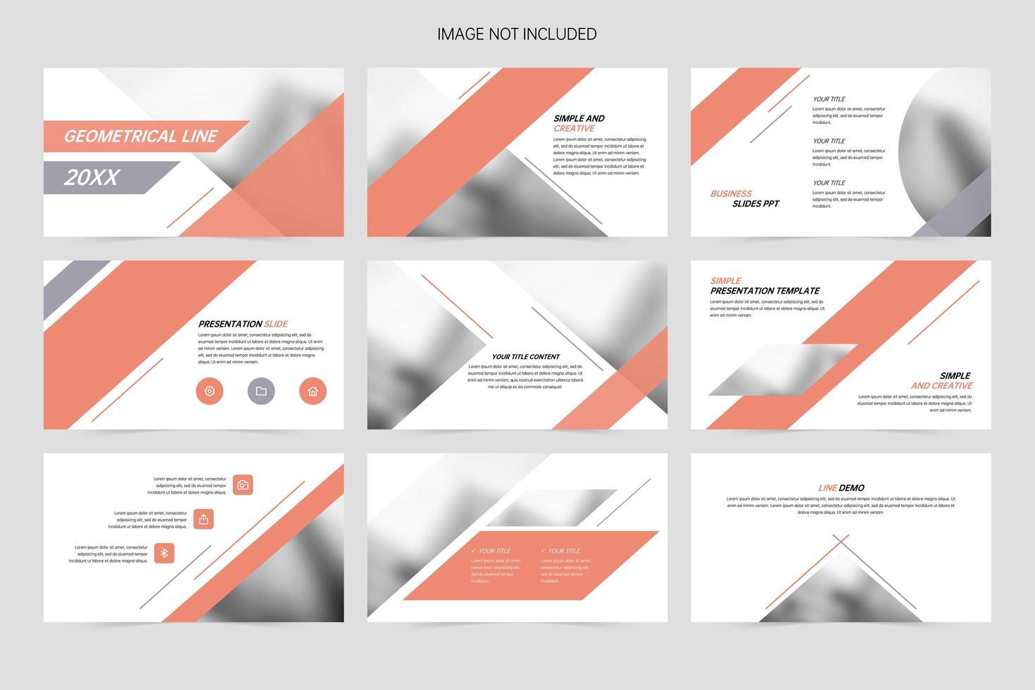 diapositive di presentazione dell'azienda di geometria aziendale vettore