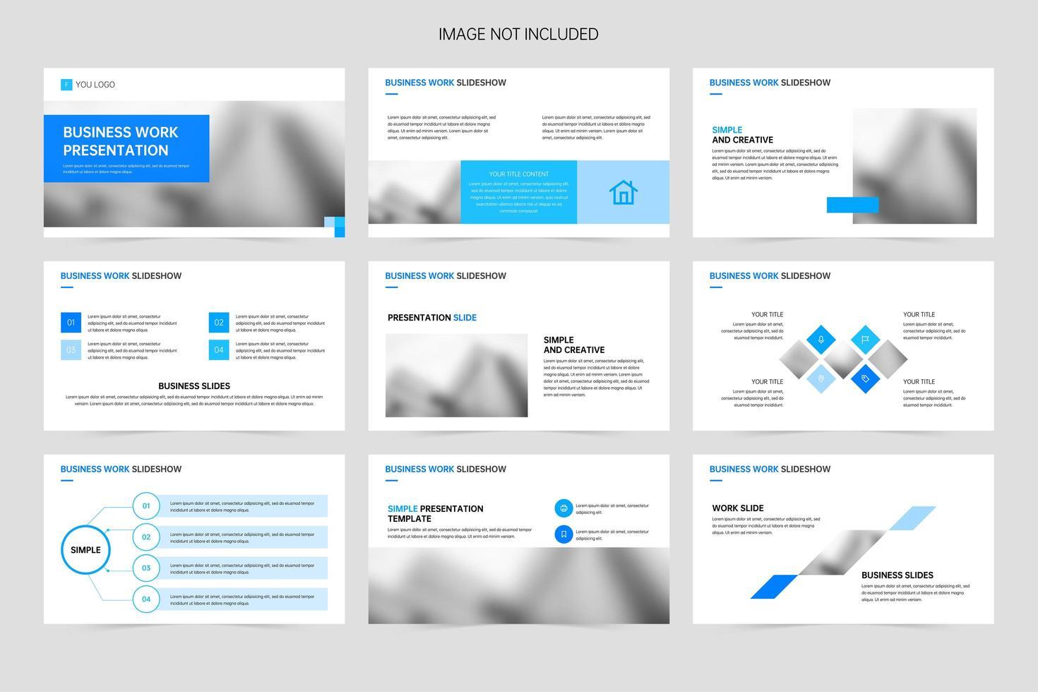 diapositive di presentazione aziendale minimalista vettore