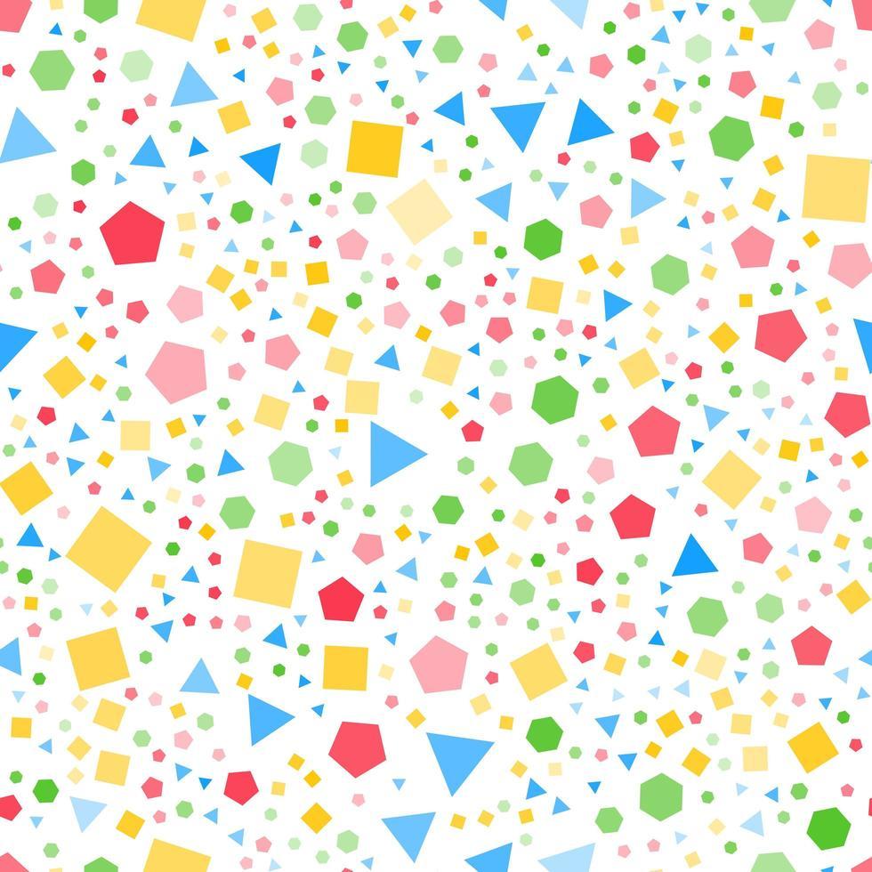 modello senza cuciture di forme geometriche regolari vettore