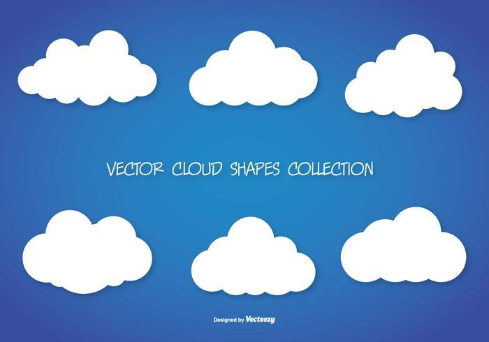 Collezione di forme vettoriali Cloud