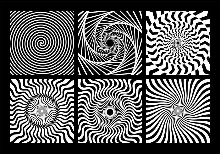 Elemento geometrico monocromatico a spirale vettore